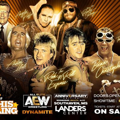 Cover art for AEW DYNAMITE FROM MEMPHIS INCLUDING MEMPHIS LEGENDS! EPISODE #51 IS KILLER!!