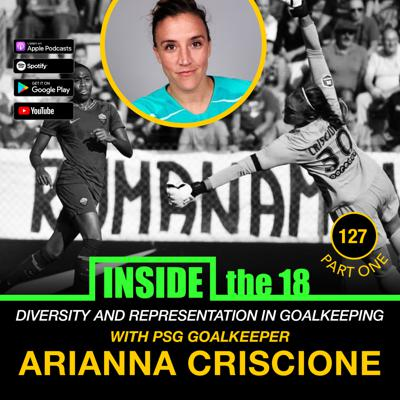Cover art for Episode 127 - Diversity & Representation in Goalkeeping w/ PSG GK Arianna Criscione & How to Handle a Back to the Bar Scenario w/ OKC Energy HC John Pascarella/ GK Coach Alexis Vizarelis