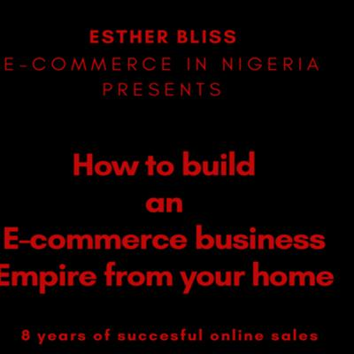 Cover art for E-commerce: How to build a business Empire