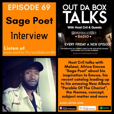 Cover art for Episode 69 (Sage Poet Interview)
