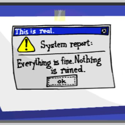 Cover art for The system is down