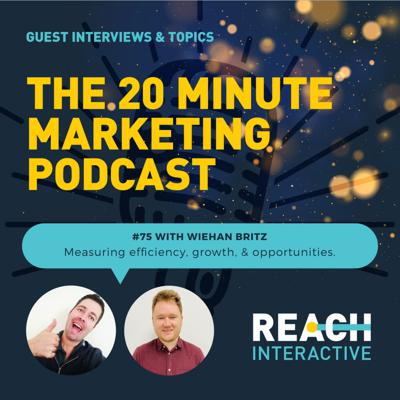 Cover art for Measuring Efficiency, Growth, & Opportunities | With Wiehan Britz | 20 Minute Marketing #75