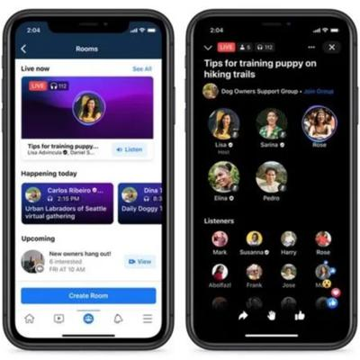 Cover art for Facebook Live Audio Rooms-ClubHouse Competitor