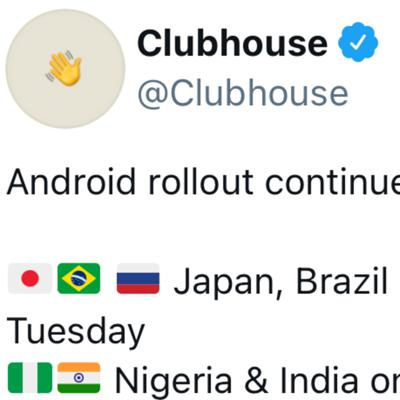 Cover art for Clubhouse Rolls Out For Android