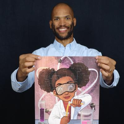 Cover art for Positive self images for black children, Matthew Goins of Puzzle Huddle