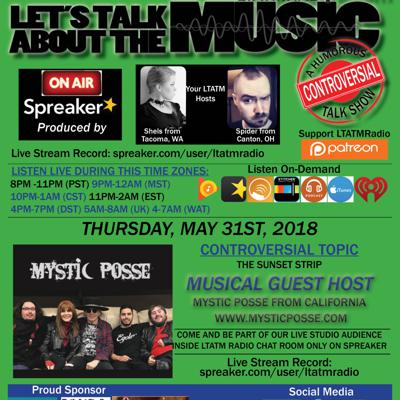 Lets Talk About The Music, was a Humorous Controversial Talk Show