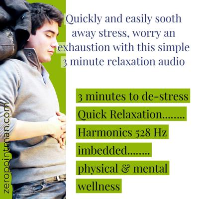 Cover art for 3 Minute Quick Relaxation with Embedded Harmonics