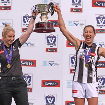Cover art for Sportay with Collingwood VFLW player Grace Buchan