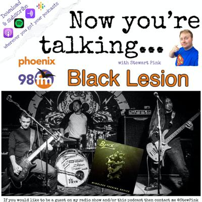 Cover art for Now you're talking with Black Lesion