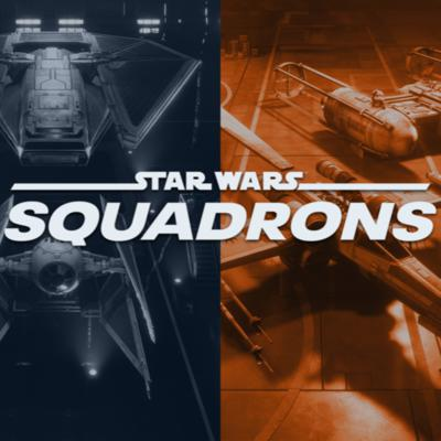 Cover art for Star Wars Squadrons and Baldur's Gate 3!
