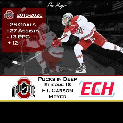 Cover art for Episode #18 of Pucks in Deep Feat. Carson Meyer