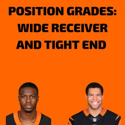 Cover art for Episode #26 Position Grades: Wide Receiver and Tight End