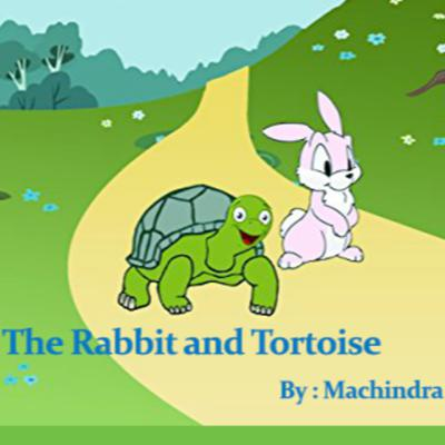 Cover art for Popular Story of Rabbit and Tortoise.