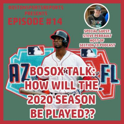 Cover art for HOW WILL THE MLB 2020 SEASON BE PLAYED? W/ STEVE PERRAULT - BOSOX TALK #13