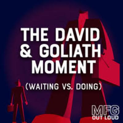 Cover art for Episode #12 – The David and Goliath Moment for Manufacturers