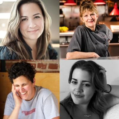 Cover art for Le Dame d'Escoffier Table Talk hosted by Erin Byers Murray, with Margot McCormack, Deb Paquette, and Caroline Galzin