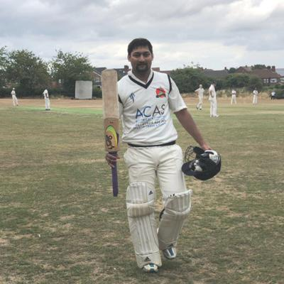 Cover art for Jabir Patel's four consecutive hundreds for Mount Cricket Club