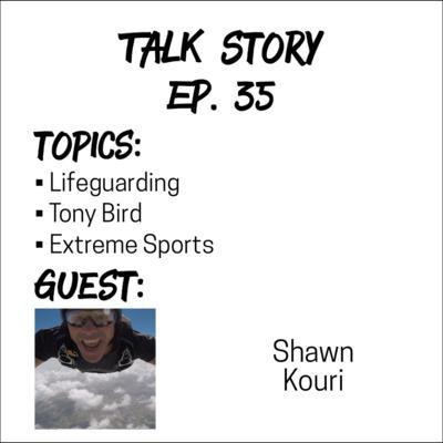 Cover art for Talk Story 35 with Shawn Kouri