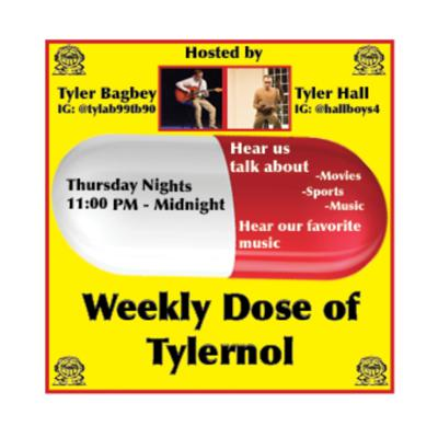 Hosts: Tyler Bagbey and Tyler Hall discuss different topics and play music.