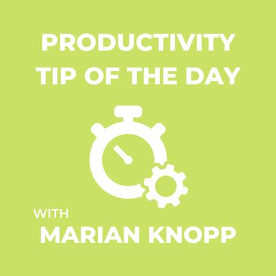Productivity Tip of the Day