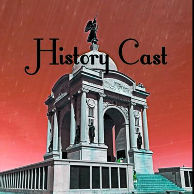 This podcast is about historical things that have happened. (Cover art edited by me, using Pixlr)