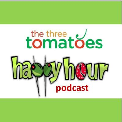 """Welcome to The Three Tomatoes Happy Hour Podcasts. Yes, we do love happy hour, and the clinking of glasses in cheers to all of you fabulous women (and men) who are fully living your lives at every age and every stage. And here's the best news – every hour is happy hour. So whether you clink cheers with your coffee mug, or your afternoon cappuccino, remember as the song says, """"It's 5 o'clock somewhere."""" Join us for some grownup fun, interesting, and stimulating conversations that will motivate, inspire, or just make you laugh. Cheers!"""