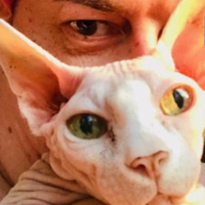 """""""Optimistic In Black"""" without BOUBO😻my Sphynx cat gone JAnuary 21 2020 the day of my anniversary"""