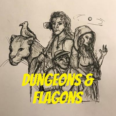 Welcome to Dungeon & Flagons, a fun drunken game of D'n'D! Join us and our intrepid band of adventurers as they traverse the land of Acadia, in search of fortune and glory!