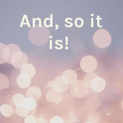 And, so it is!