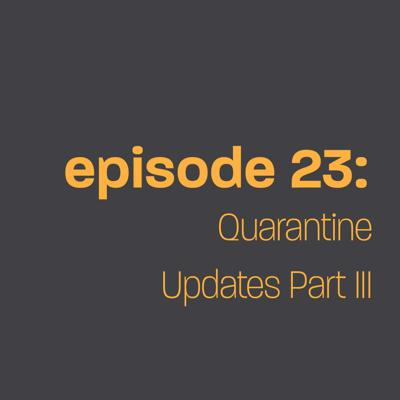Cover art for Episode 23: Quarantine Updates Part III