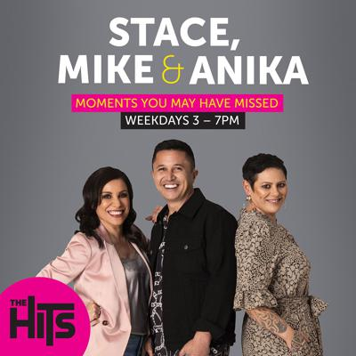 Across your workday you get the 'Best Music and More Variety' and in 2019, your new way to drive home at The Hits is with Stacey Morrison, Mike Puru and Anika Moa. You can catch Stace, Mike and Anika live from 3pm on The Hits, but if you've missed the show we now have a bite size daily episode filled with laughs, this is 'Moments You May Have Missed with Stace, Mike & Anika Moa'!
