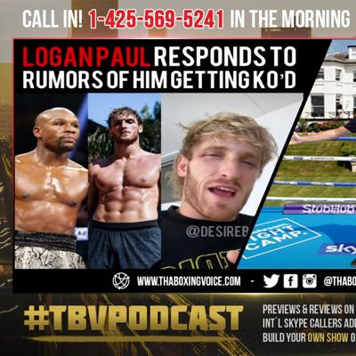Cover art for ☎️Logan Paul FIRES Back @ HATERS Who Say Mayweather KO'D HIM😱Eddie Gives Joshua vs Usyk Update❗️