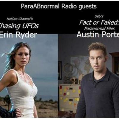 Cover art for Chasing UFOs Erin Ryder & Fact or Faked's Austin Porter