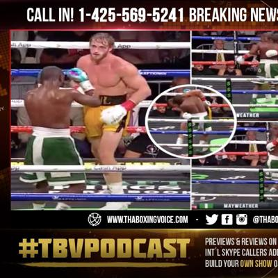 Cover art for ☎️Floyd Mayweather KNOCKED OUT Logan Paul😱BUT Held Him Up to Keep The SHOW Going🤔