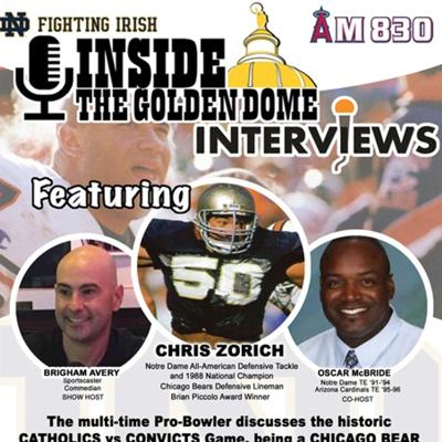 Cover art for Inside the Golden Dome: Chris Zorich