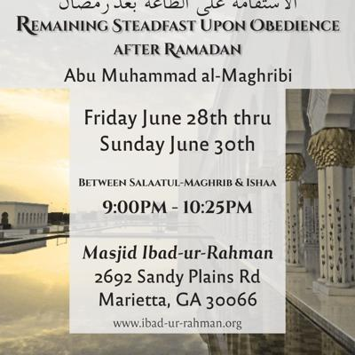 Remaining Steadfast upon obedience.....