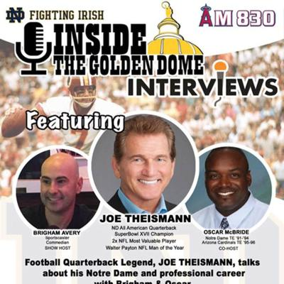 Cover art for Inside the Golden Dome: Joe Theismann