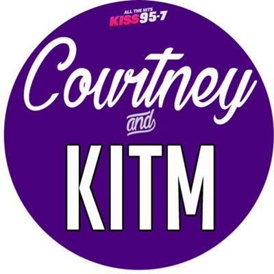 Courtney and KISS in the morning