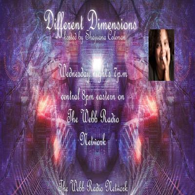 Different dimensions is a place where we explore any and everything that may be considered strange or different. We will discuss the supernatural, the Paranormal, different spiritual beliefs and practices, The Unexplained, Miracles and Magic. We are here to bring awareness and understanding to the many varieties of beliefs and Lifestyles,  not to judge or condemn anything nor anyone.