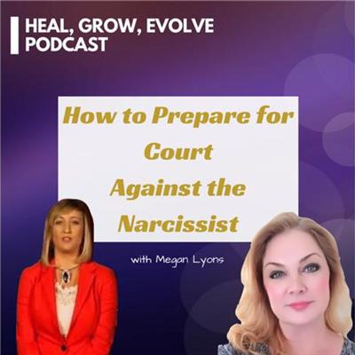 Cover art for How to Prepare for Court Against the Narcissist - with attorney Megan Lyons