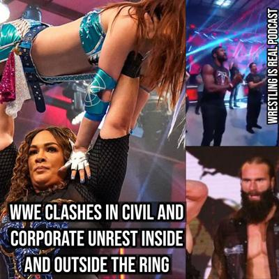 Cover art for WWE Clashes In Civil and Corporate Unrest Inside and Outside The Ring KOP060420-537