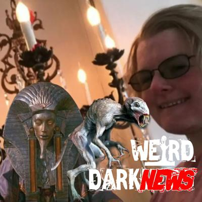 Cover art for WOMAN TO MARRY CHANDELIER, ALIEN DNA IN PHARAOH, CHUPACABRA ARRIVES IN UFO, and MORE! #WeirdDarkNews
