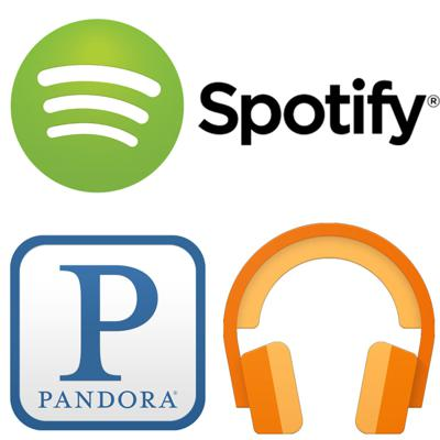 Cover art for Online Music with Spotify, Google Music and Pandora