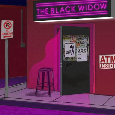 Cover art for The Black Widow #1 - Hoe Logic