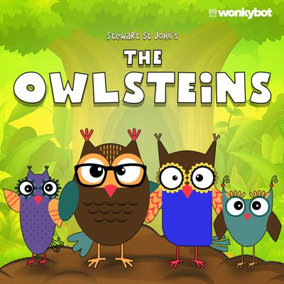 The Owlsteins is a whimsical, narrated podcast series chronicling the lives of a sweet owl family. Told in rhyme and narrated by creator Stewart St John, each short-form episode takes the listener deep inside the Owlstein family's magnificent treehouse located on Mount Hickle Huck Peak where Ollie the dad, Olympia the mom, Olivia the daughter and Owen the son live, love and laugh together. Filled with valuable life lessons and positive messages, The Owlsteins is a heartwarming series for parents, grandparents, children and grandchildren alike.Created, written, directed andnarrated by Stewart St John. Produced by Stewart St John, Michael Plahuta and Todd Fisher. With music by Stewart St John and Michael Plahuta. A Wonkybot Studios Original Production.