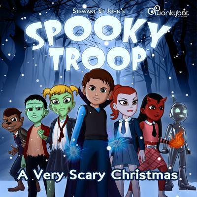 """With 'Scary Christmas' quickly approaching, all of the United Netherworld is ushering in the """"season of greed"""". That is, until the """"misfit monster kids"""" discover the true meaning of Christmas. In this thrilling holiday special called Spooky Troop: A Very Scary Christmas, the Spooky Troop kids work together to bring the message of joy, love and giving, not taking, to the citizens of Asterlin.  Filled with mystery, action-adventure and comedy, the musically-infused audio drama is a show the whole family can enjoy featuring a full-cast adventure with dialogue, sound effects, instrumental score and original songs.  Written and directed by Stewart St John (Mighty Morphin Power Rangers, Sabrina: The Animated Series).  Original Score and over twenty Songs written, performed and produced by music partners Stewart St John & Michael Plahuta.  Sound Design by Michael Plahuta.  Produced by Todd Fisher, Stewart St John and Michael Plahuta for Wonkybot Studios."""