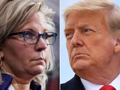 Cover art for Rep Liz Cheney was removed by cowardly GOP as she refused to support the big lie