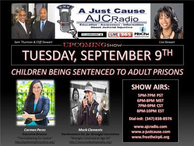 A Just Cause Coast 2 Coast - Children Being Sentenced to Adult Prisons