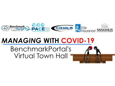 Cover art for MANAGING WITH COVID-19 | BenchmarkPortal's Virtual Town Hall