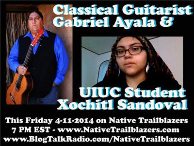 Cover art for Classical Guitarist Gabriel Ayala and UIUC student Xochitl Sandoval